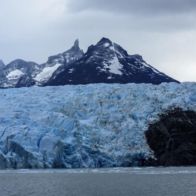 """grey glacier ,Torres del Paine,Patagonia, Chile."" stock image"