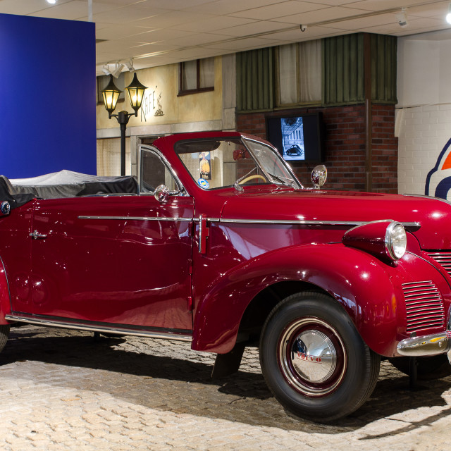 """""""one old Volvo PV 61 cabriolet"""" stock image"""