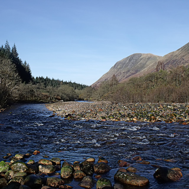 """Scottish River"" stock image"