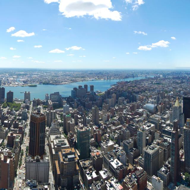 """Manhattan panorama"" stock image"