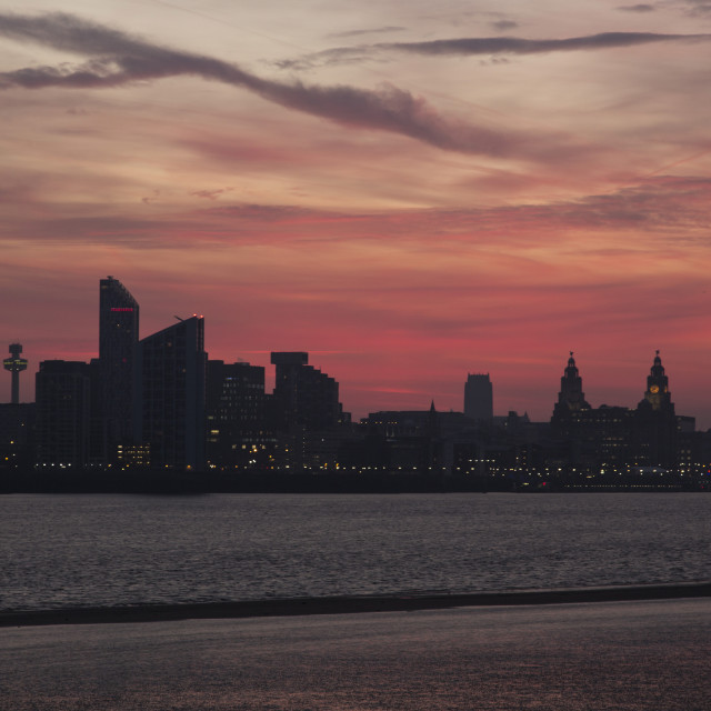 """Liverpool Waterfront Dawn"" stock image"