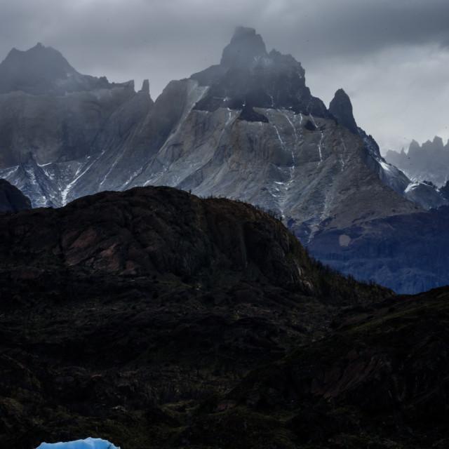 """grey lake ( lago grey ) ,Torres del Paine,Patagonia, Chile."" stock image"