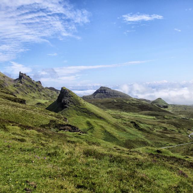 """Quirang landscape on Isle of Skye"" stock image"