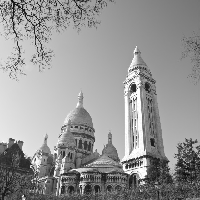 """The Sacre-Coeur at Montmartre"" stock image"