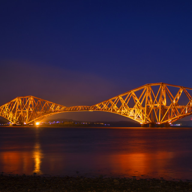 """The Forth Rail Bridge at Sunrise"" stock image"