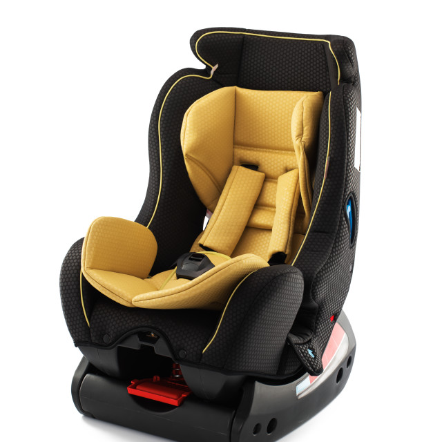 """""""Children's automobile armchair isolated on a white background"""" stock image"""