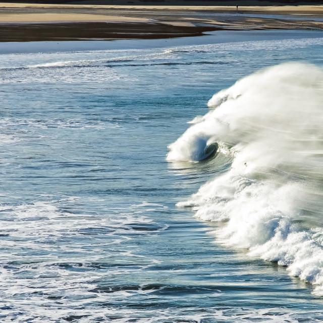 """Waves at Crantock"" stock image"