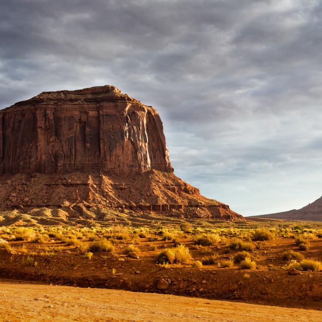 """Mesa, Monument Valley, Arizona, USA"" stock image"