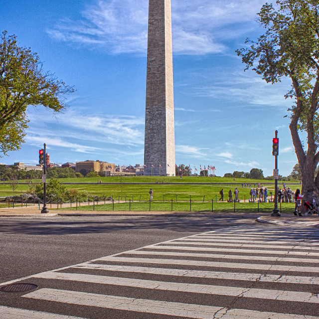 """Crossing to the Monument"" stock image"