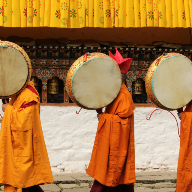 """Monks in Bhutan"" stock image"