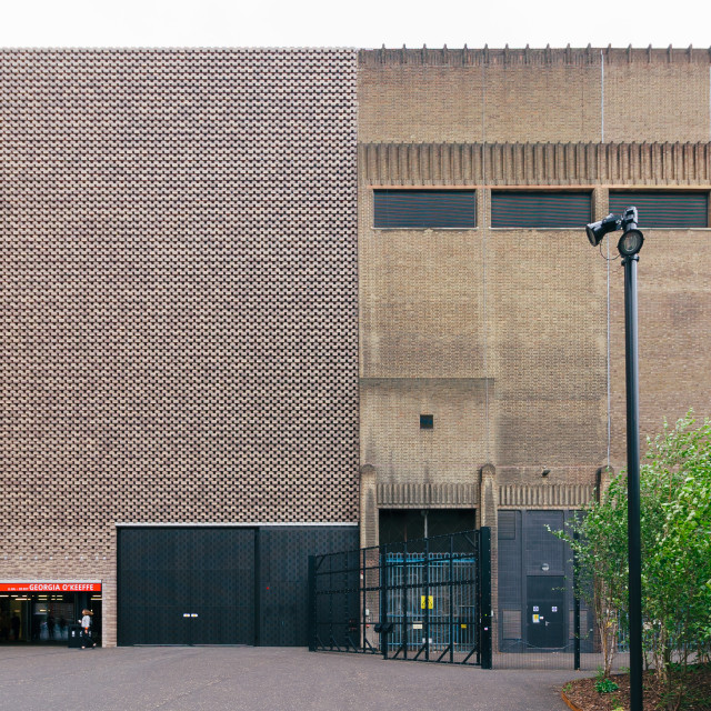 """Tate Modern - Old and New"" stock image"