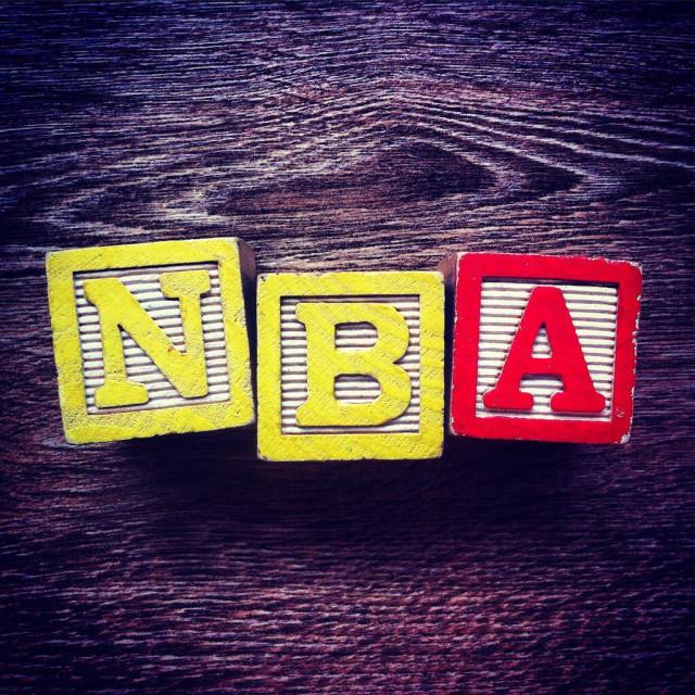 """""""Acronym NBA for National Baseball Association"""" stock image"""