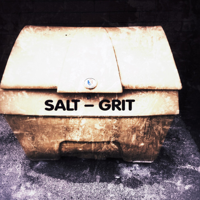 """Salt grit box"" stock image"