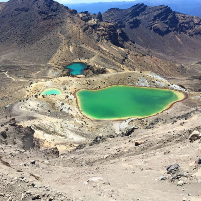 """Emerald Lakes, Tongariro Alpine Crossing, New Zealand"" stock image"