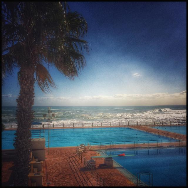 """""""Seapoint public swimming pool, Cape Town, South Africa."""" stock image"""