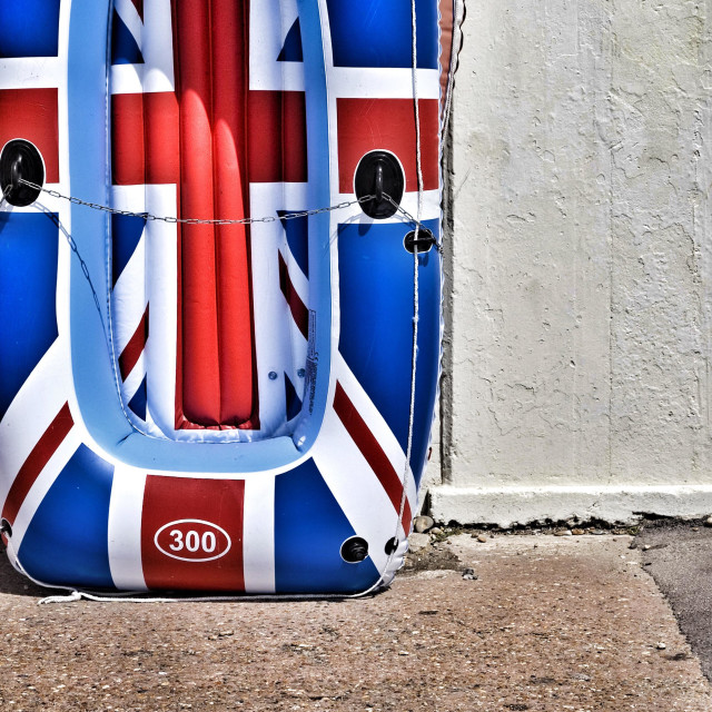 """Union jack dinghy"" stock image"