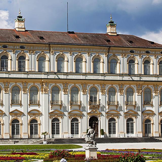 """Oberschleissheim, Germany - New Schleissheim palace, Italian garden"" stock image"