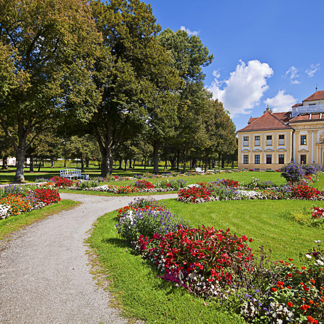 """Bavaria, Germany - Lustheim Palace and the baroque garden"" stock image"