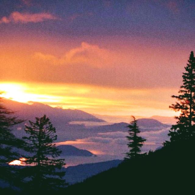 """""""North Idaho Sunrise"""" stock image"""