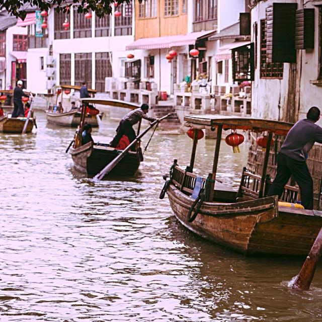"""""""Chinese town Zhujiajiao"""" stock image"""