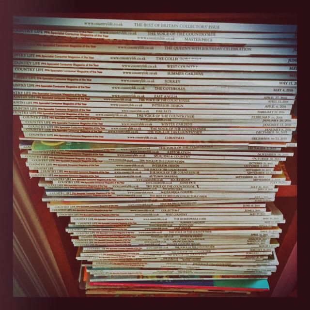 """""""Magazine stack"""" stock image"""