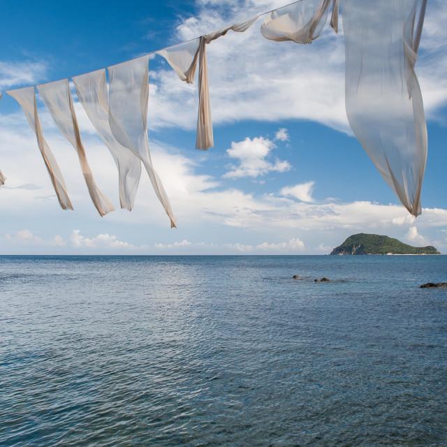"""View from Cameo Island, Zante"" stock image"