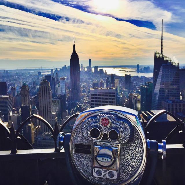 """Top of Rockefeller Center, New York City"" stock image"