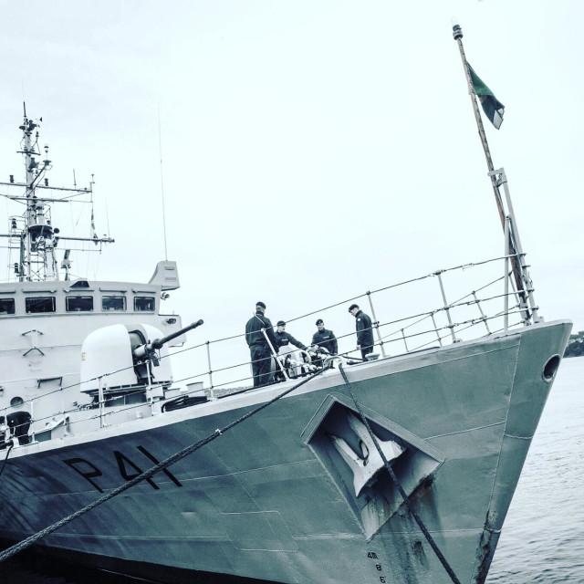 """Lé Orla - P41. Irish Navy Patrol Boat"" stock image"