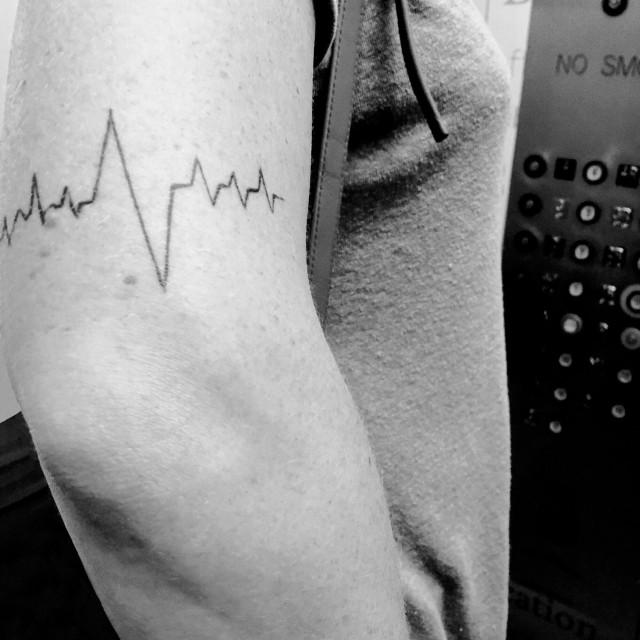 """Heart beat tattoo"" stock image"