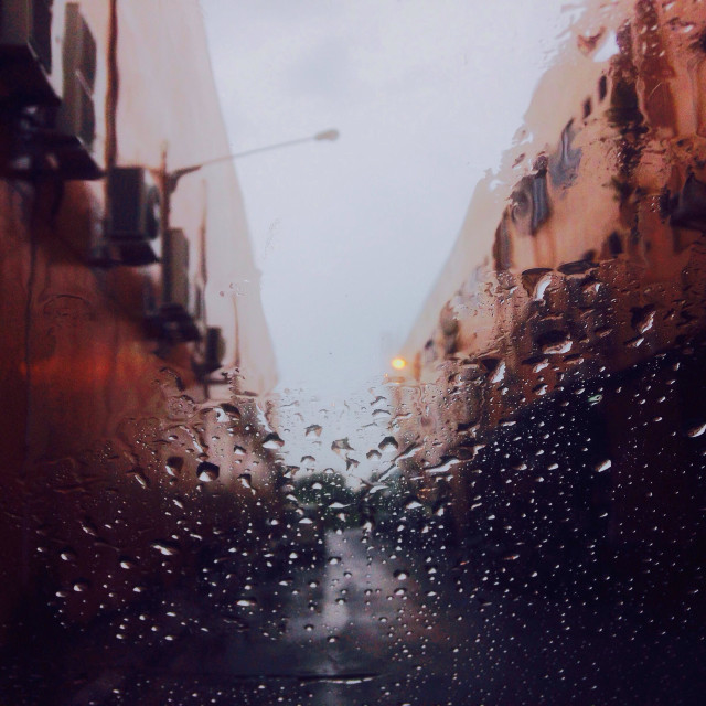 """Let it rain"" stock image"
