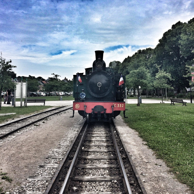 """Chemin de Fer de la Baie de Somme, Somme bay railway"" stock image"