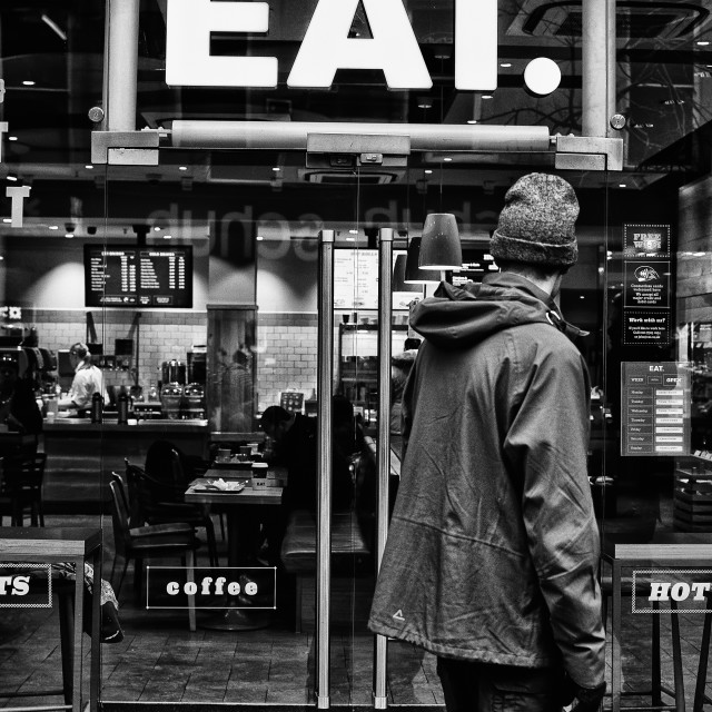 """Eat"" stock image"