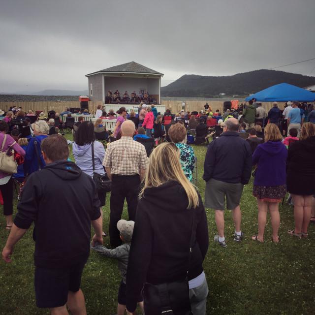 """Southern Shore Shamrock Folk Festival in Ferryland, Newfoundland, Canada."" stock image"