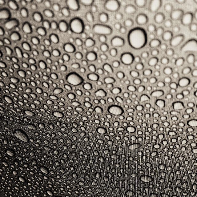 """Rain drops on nylon"" stock image"