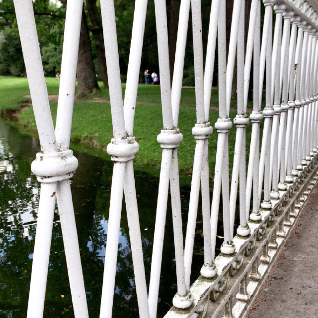 """Special railing.. Repetition, repetition, repetition."" stock image"