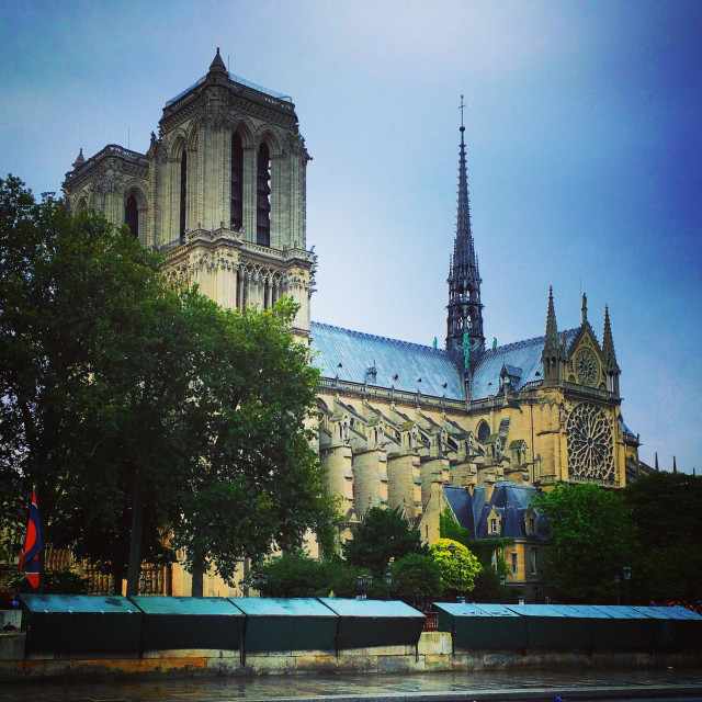 """Cathedral Notre-Dame of Paris"" stock image"