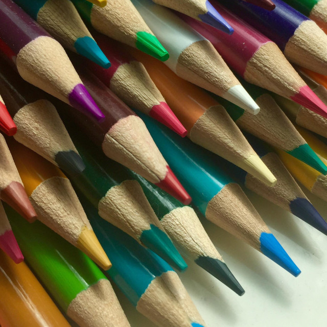"""""""Colored pencils on a white background"""" stock image"""