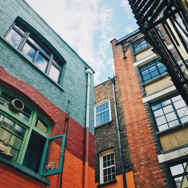"""Neal's Yard, London"" stock image"