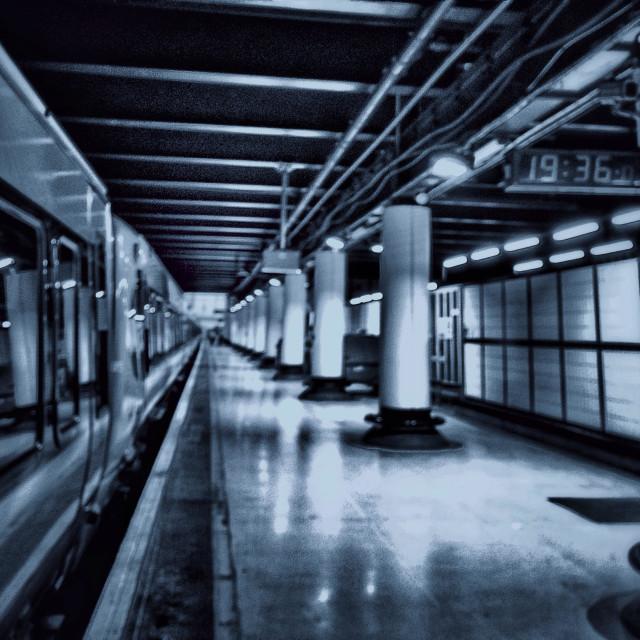"""Victoria station."" stock image"