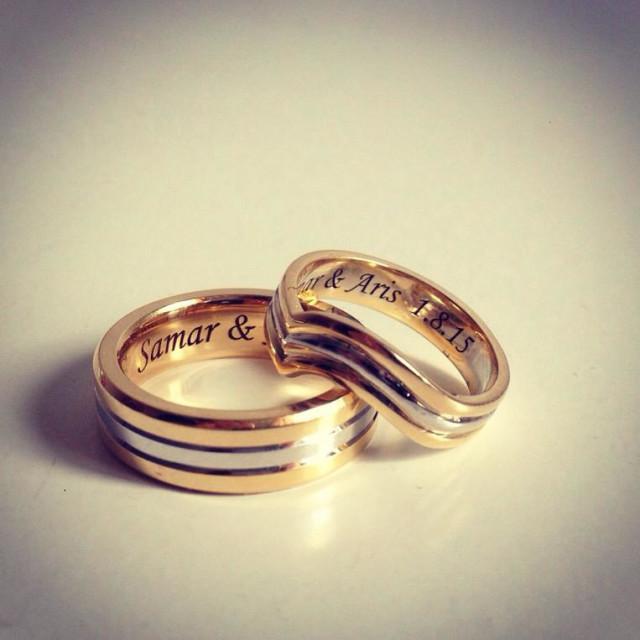 """Set marriage wedding band"" stock image"
