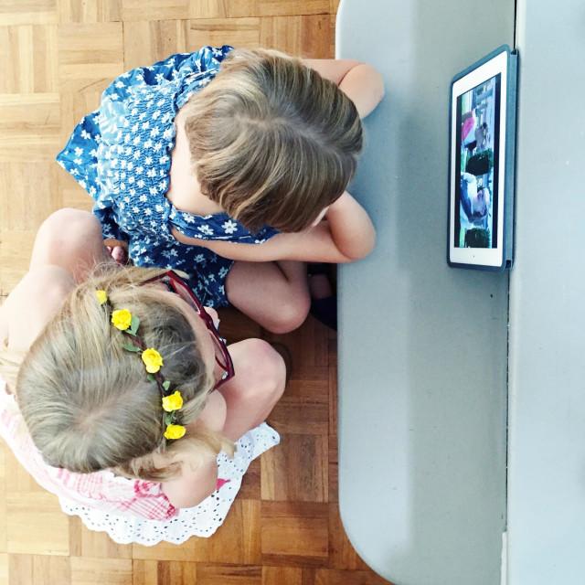 """Watching iPad"" stock image"