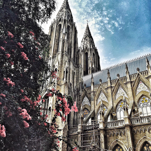 """""""Church in Mysore."""" stock image"""