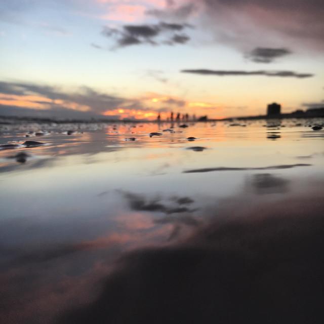 """Sunset at Siesta Key"" stock image"