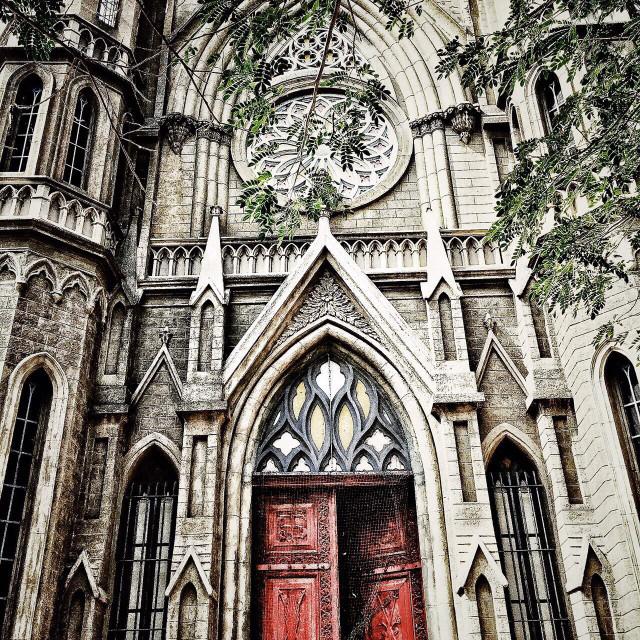 """Old Church in Mysore."" stock image"