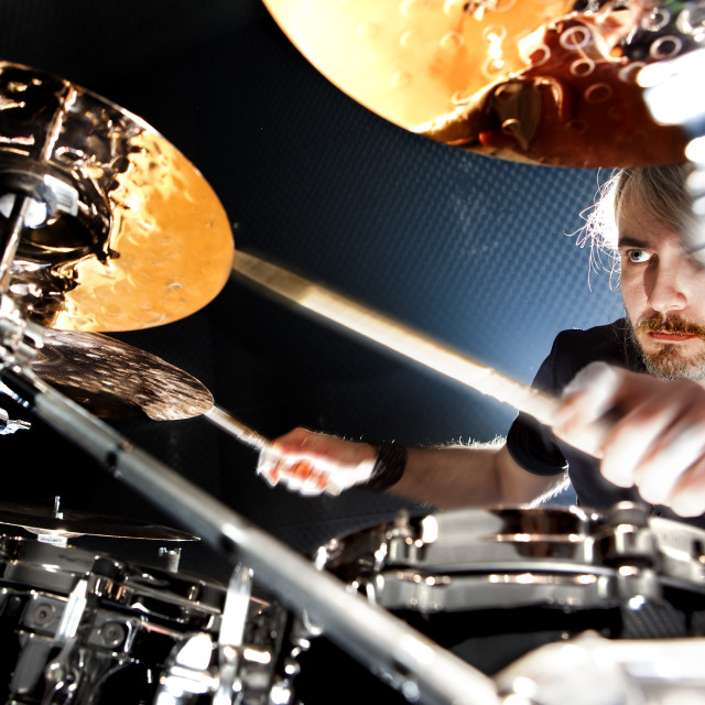 """""""Live music and drummer.Music instrument"""" stock image"""