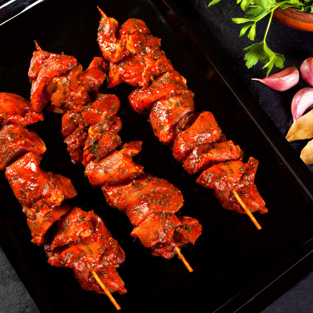 """beef skewers"" stock image"
