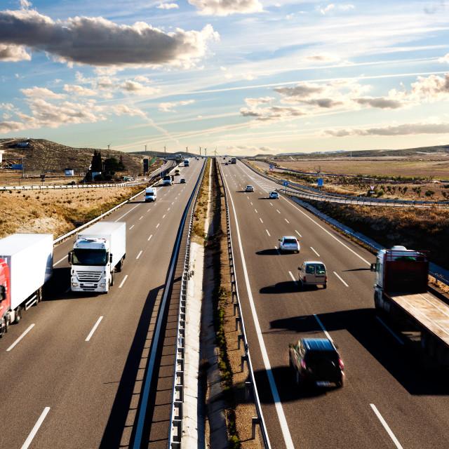 """International shipment and highway"" stock image"