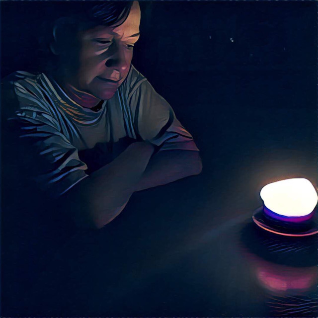"""""""Woman by candlelight"""" stock image"""