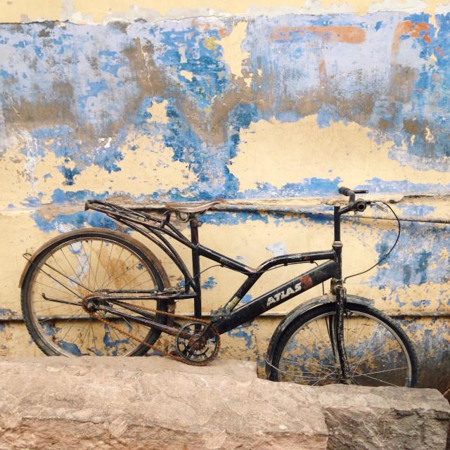 """""""Biking around!"""" stock image"""
