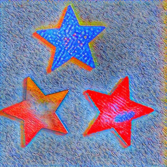 """Neon stars"" stock image"
